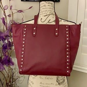 """Sorial 100% Leather """"bucket"""" style purse w/studs"""